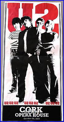 U2 official 1979 CORK concert promo poster