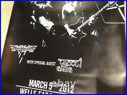 VAN HALEN Original 4x6 Huge Concert Poster Wells Fargo Center RARE 2012