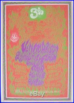 VAN MORRISON FD 88 FAMILY DOG AVALON concert poster 1967 WES WILSON NM
