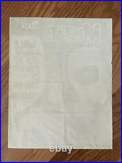 VERY RARE Misfits Original 1983 Concert Punk Rock Flyer Danzig Samhain Poster