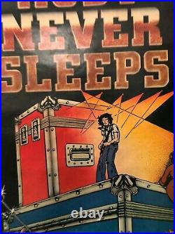 VINTAGE MUSIC POSTER 1979 Neil Young Rust Never Sleeps A Concert Fantasy Jawa SW