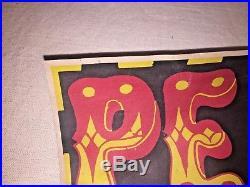 VINTAGE RARE PEARL JAM 1995 Sponsored By No One ORIGINAL CONCERT TOUR POSTER
