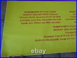 VINTAGE R. E. M. HAMMERSMITH PALAIS BALLROOM PROMO UK SUBWAY CONCERT POSTER 40x60