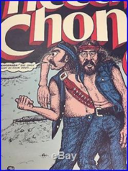 VTG ORG 1972 CHEECH & CHONG CONCERT POSTER/GARY GRIMSHAWith EASTERN MICHIGAN UNIV