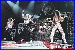 Van Halen David Lee Roth Rare Vintage Original Live Concert Poster 1982