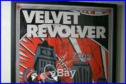 Velvet Revolver Contraband Concert Poster signed by Slash, DUFF GNR