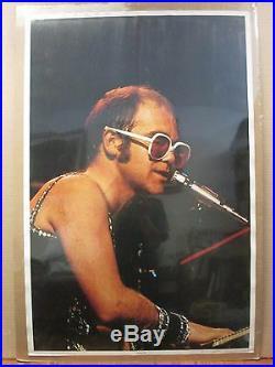 Vintage 1975 Elton John original music artist concert poster 10492