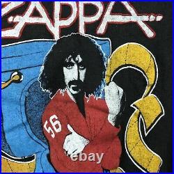 Vintage 80s FRANK ZAPPA PHI ZAPPA KRAPPA TOILET POSTER T-Shirt XXS rock concert