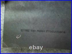 Vintage Original 1982 Van Halen Live Concert Poster Good Condition Rock & Roll