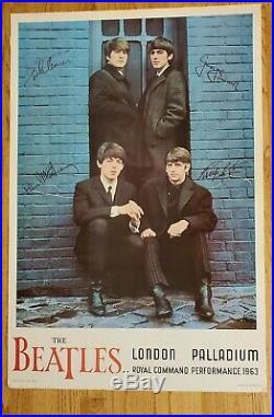 Vintage Original Beatles Concert Poster London Palladium 1964