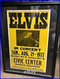 Vintage Original Elvis Presley In Concert Rare Poster Framed P-814