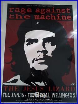 Vintage Rage Against The Machine & The Jesus Lizard Concert Poster 1995 Rare