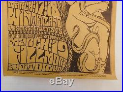 Vtg 1967 ORIGINAL Chuck Berry Grateful Dead Concert Winterland Fillmore Poster