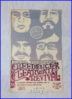 Vtg Creedence Clearwater Revival CCR 1972 Concert Poster Kansas City Original