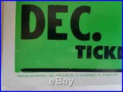 Vtg Original 90s Green Day Dookie Gig Concert Promo Poster Billie Joe Mike Dirnt