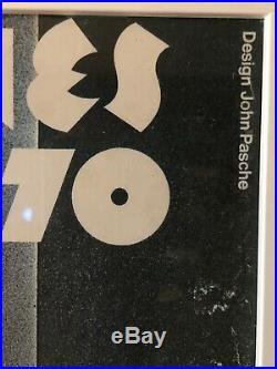 Vtg Rolling Stones Concert Poster Original European Tour 1970 Pasche Rock Music