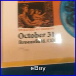 WEEN BROOMFIELD 10-31-10 HALLOWEEN CONCERT POSTER EMEK SILKSCREEN ORIGINAL Print