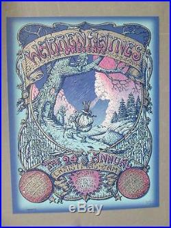 Warren Haynes Christmas Jam Asheville 2012 Original Concert Poster Welker