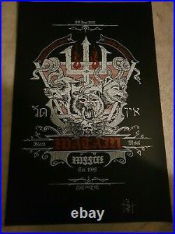 Watain Erik 2012 40x25 lithograph poster signed autograph Concert ONLY item