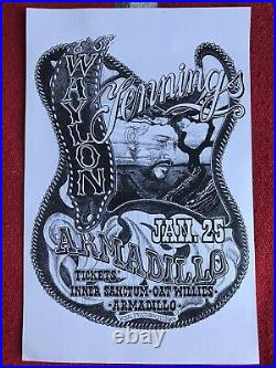 Waylon Jennings Concert Poster