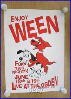 Ween Fillmore Denver 2000 Concert Poster Silkscreen Ogden Kuhn Original