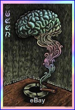 Ween Fox Boulder 2005 Foil Concert Poster Emek H/c Silkscreen Original