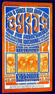 Wes Wilson Byrds Wildflower Bill Graham #28 4.5 Vg+ 1966 Concert Poster