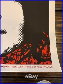 White Stripes 03 Concert Poster Rob Jones Silkscreen Los Angeles Jack Third Man