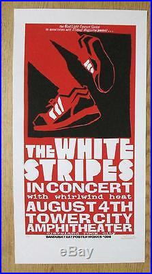 White Stripes Cleveland 2003 Concert Poster Silkscreen Original Jack Rare