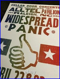 Widespread Panic Hatch Show Print Concert Poster Alltell Raleigh NC 2005 WSP