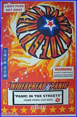 Widespread Panic RARE Concert Poster Athens, GA Light Fuse get away w FREE POSTER