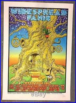 Widespread Panic Wood Tour 2012 Concert Poster Chuck Sperry Original