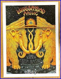 Widespread Panic Wsp Red Rocks 2013 Emek Silkscreen Concert Poster Original