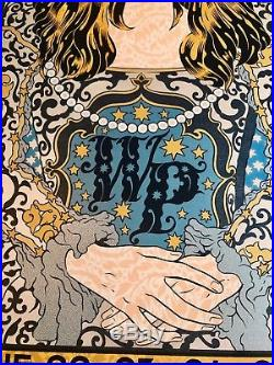 Widespread panic concert poster Chuck Sperry red rocks