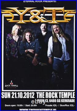Y&T 2012 Lot of Two Original Dutch Concert Posters