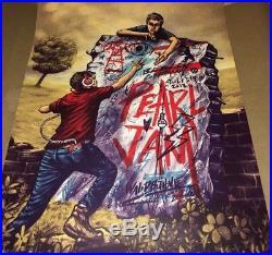 Zeb Love 2018 PEARL JAM Berlin Germany July 5 S/N Concert Poster Print AP